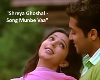 "Shreya Ghosal singing ""Anbe va En Munbe Va"" Song,"